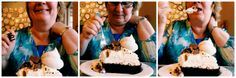 Mother enjoying the biggest piece of Food Pictures, Birthday Cake, Lunch, Desserts, Blog, Tailgate Desserts, Birthday Cakes, Eat Lunch, Dessert