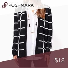 Checkered Cardigan Great used condition. Black and white Sweaters Cardigans