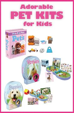 Craft and activity kits for young pet lovers!