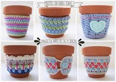 Girom deco - Hobbies paining body for kids and adult Crochet Coffee Cozy, Crochet Cozy, Freeform Crochet, Love Crochet, Crochet Gifts, Crochet Bunny Pattern, Crochet Patterns, Crochet Jar Covers, Cotton Cord
