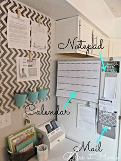Organizeher Products @Robin Duffee maybe we can do something like this on a wall near the fridge or by the pantry