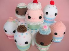 Free Felt Patterns and Tutorials: Free Felt Pattern & Tutorial > Cupcake Softies