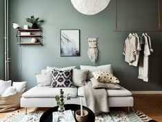 my scandinavian home: Small Space Inspiration: A Delightful Green and White Swedish Flat With a Pretty Bed Nook Interior Design Inspiration, Decor Interior Design, Interior Decorating, Room Inspiration, Small Space Living, Small Spaces, Bed Nook, Interior Color Schemes, Colour Schemes