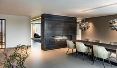 Preferro metal technology - Project Ewijk - Hoog ■ Exclusive living and garden insp . Tiny Living Rooms, Boho Living Room, Home And Living, Craftsman House Plans, Home And Deco, Dining Room Design, Home Interior Design, New Homes, House Styles