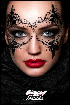 STYLING Model Face <~> :: Masked in Ink - Makeup Magazine Romania