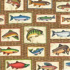 Take the Bait - Fresh Water Fish Frames - Saddle Brown