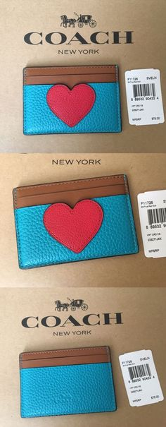 Business and credit card cases 105544 coach flat business credit business and credit card cases 105544 nwt coach true red heart flat card case holder reheart Image collections