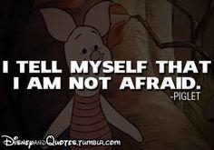 """Piglet/anxiety: Chronically afraid. 