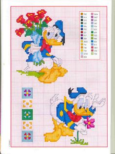 donald duck xstitch