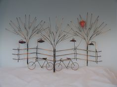 BIKES AND TREES metal sculpturebike wall by DONPOFFSCULPTURES