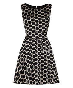 Iska London Black Mad Tie-Back Dress