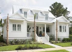 House of Turquoise: Flatfish Island Designs Coastal House Plans, Beach House Plans, Cottage House Plans, Coastal Farmhouse, Coastal Cottage, Coastal Homes, Cottage Homes, Beach House Decor, Coastal Living