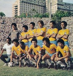 Brasil, 1981. Leite, Edevaldo, Toninho, Oscar, Luisinho, Junior. Tita, Paulo Isidoro, Socrates, Batista, Ze Sergio. Foto Moreno