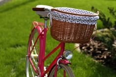 Egriders retro style bikes vintage bicycle handmade leather accessories raspberry dots lady Vintage Bicycles, Leather Accessories, Handmade Leather, Retro Style, Retro Fashion, Raspberry, Dots, Basket, Lady