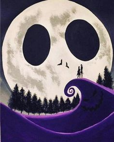 Nightmare before christmas wallpaper cartoon 57 ideas Tim Burton Kunst, Film Tim Burton, Tim Burton Art, Jack Skellington, Nightmare Before Christmas Wallpaper, Nightmare Before Christmas Tattoo, Halloween Designs, Fall Halloween, Halloween Prop