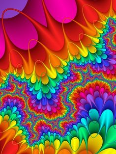 Bright and colourful. Lumineux et coloré. Taste The Rainbow, Over The Rainbow, World Of Color, Color Of Life, Color Splash, All The Colors, Vibrant Colors, Art Fractal, Happy Colors