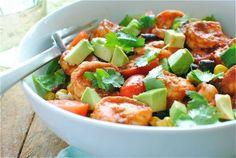 chipotle shrimp salad bowls
