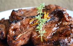 Lemon and honey glazed lamb chops - Madeline DeJager - African Food Braai Recipes, Barbecue Recipes, Cooking Recipes, Honey Recipes, Lamb Recipes, Lamp Chops Recipe, Braai Salads, Marinated Lamb, Lamb Ribs