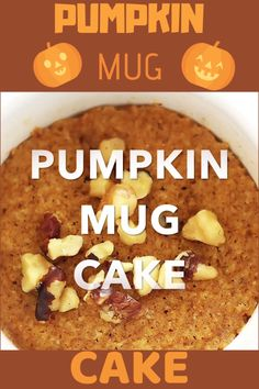 Coconut Flour Pumpkin Spice Mug Cake - this healthy and delicious dessert recipe takes only 5 minutes to make! PERFECT to quickly satisfy sweet cravings with REAL food ingredients. This recipe is gluten free, low carb and paleo friendly. Gluten Free Mug Cake, Paleo Mug Cake, Nutella Mug Cake, Mug Recipes, Pumpkin Recipes, Real Food Recipes, Pumpkin Flour Recipe, Cake Recipes, Healthy Recipes