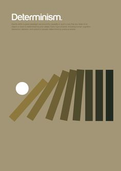 """The illustrations you see featured here are from a series entitled """"Philographics,"""" and were created by London-based graphic designer Genís Carreras. Using basic colors, simple geometric design, and concise definitions, Carreras manages to cram impressive amounts of information — on philosophical doctrines as diverse as hedonism, determinism, and existentialism — into a surprisingly simple and accessible package."""