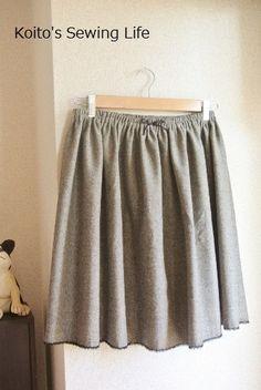 まっすぐ縫うだけの簡単ギャザースカート こいとの Sewing Life