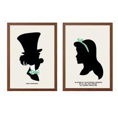 Alice au pays des merveilles - illustration rétro - #disney