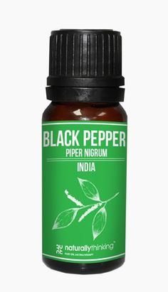 Black Pepper essential oil used to warm the muscles. It is a hot and spicy oil which is warming and builds confidence. Buy black pepper essential oil at naturallythinking with next day delivery