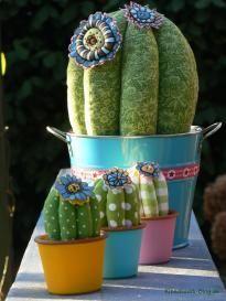 Kaktus, Deko, Nadelkissen, Stoff, nähen, cactus, deco, pincushion, fabric, sewing