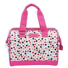 Pink Confetti Fun Prints Insulated Detachable Shoulder Strap Lunch Tote Bag