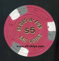 #LasVegasCasinoChip of the Day is a $5 Slots A Fun 3rd issue UNC you can get here https://www.all-chips.com/ChipDetail.php?ChipID=5537 #CasinoChip #LasVegas