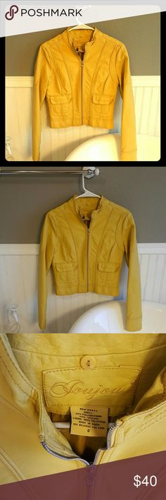 NWOT JouJou Moto Jacket! Selling a NWOT JouJou Moto Jacket! This Jacket is very stylish! Great fun color to add some spice to any outfit! Small in size and ready for someone to show it off! Jou Jou Jackets & Coats