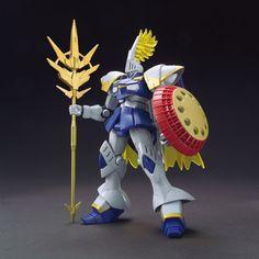 1/144 HGBF Gyancelot | Gundam Build Fighters Sci-Fi Mecha Animé | Lancelot Knight Blue Gold Medieval Scale Model |