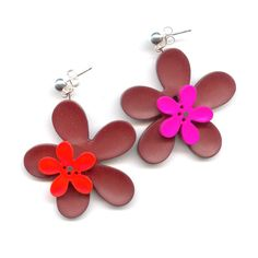 Your online beadshop - Perles & Co.   70's Flowers earrings