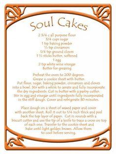 Samain: Soul Cakes for #Samain. Samhain Recipes, Wicca Recipes, Soul Cake, Samhain Halloween, All Souls Day, Kitchen Witchery, Sabbats, Beltane, Book Of Shadows