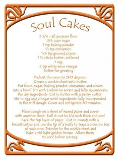 Soul Cakes- A great idea for an offering if you are casting a circle with witchy friends :-)
