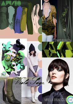 "Inspiration Information - © Mirella Bruno Print Trend Colour Designs 2016. ""Viola Sage."" AW/18. Print and Trend Design Orientations."