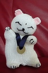 lucky cat .. Free pattern