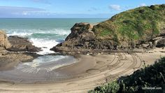 Sand draw at Piha, shot by iPhone 6s