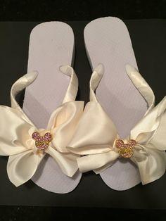 Bridal Flip Flops.Wedding Flip Flops.Bridal by RocktheFlops