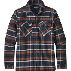Patagonia - Insulated Fjord Flannel Jacket - Men s - Tom s Place Navy Blue  Flannel Jacket 576b8fc69eec