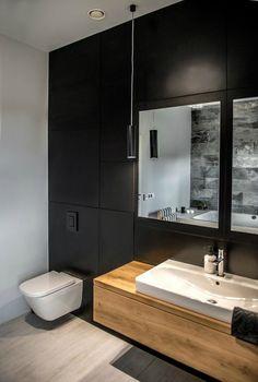 Nordic gray modern home interior design 22