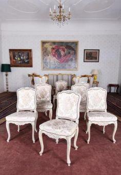 Starožitný komplet rokokových židlí 8 KS Antique Furniture, Dining Chairs, Antiques, Home Decor, Antiquities, Antique, Decoration Home, Room Decor, Dining Chair
