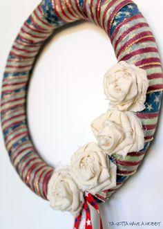 vintage flag wreath