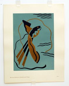 Original Vintage Serge Gladky Composition Decorative by HodesH, $35.00