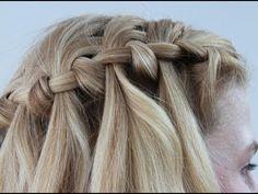 Easy Waterfall Braid Hairstyle Tutorial