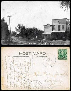 Main St., Highland MN    08-20-1907  State Archives #0770-047