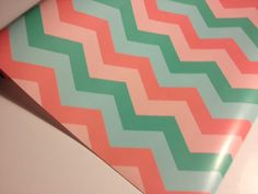 Pastel  Chevron Print  Wrapping Paper 30 inches x  10 feet