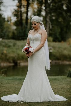Strapless wedding dress for fall. To see more of this Calgary fall wedding, visit Teller of Tales Photography. Wedding Songs, Wedding Couples, Groomsmen Suits, Bridesmaid Dresses, Wedding Dresses, The Girl Who, Maid Of Honor, Calgary, Dress Ideas