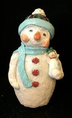 snowman with little friend by GinnyDiezelStudios, via Flickr