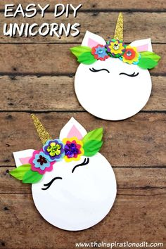Unicorn Magnet Craft For Kids · The Inspiration Edit Easy Unicorn Magnet Craft for Children · Click the link to create your own magical unicorn art project. Animal Crafts For Kids, Easy Crafts For Kids, Animals For Kids, Art For Kids, Quick Crafts, Unicorn Crafts, Unicorn Art, Magical Unicorn, Craft Activities